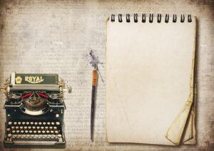typewriter and paper